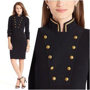 Lauren Ralph Lauren Military Sweater Dress Black